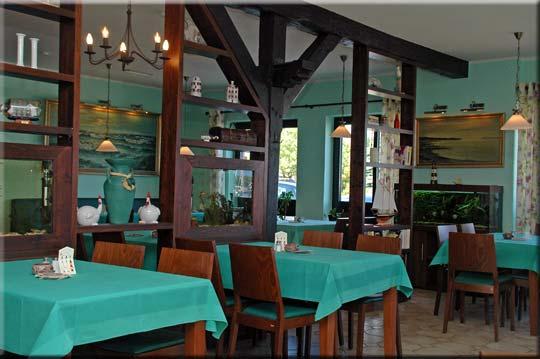 Der schöne Gastraum des Restaurants