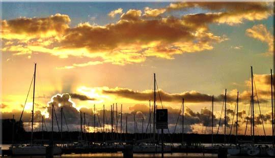 Sonnenaufgang am Breeger Bodden